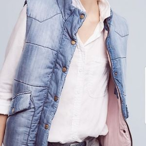 Anthropologie cloth and stone vest L